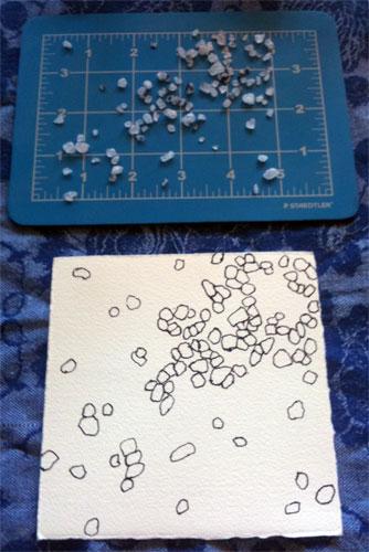 Salt Cell 2, progress 4, by Amy Crook
