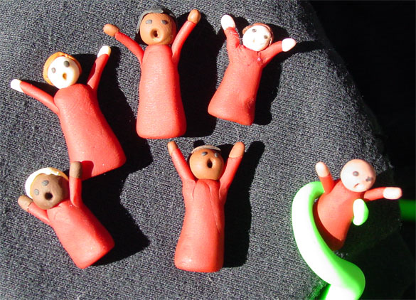 Sculpey Cultists by Amy Crook