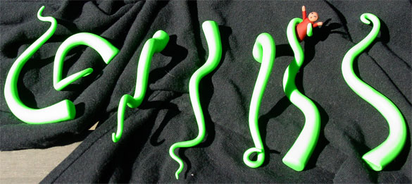 Sculpey Tentacles by Amy Crook