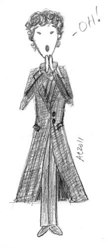 Sherlock Oh! sketch by Amy Crook