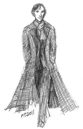Sherlock BBC, sketch 1, by Amy Crook