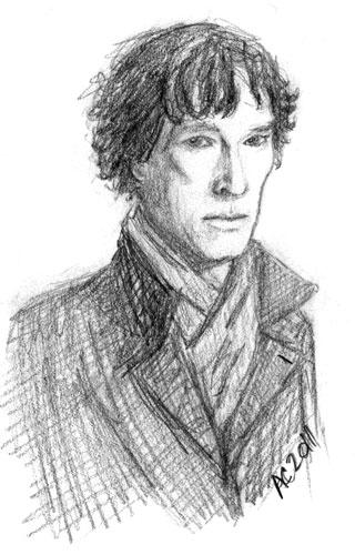 Sherlock sketch 2 by Amy Crook