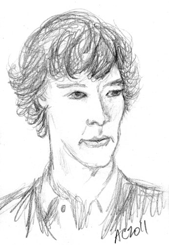 Sherlock sketch 3 by Amy Crook