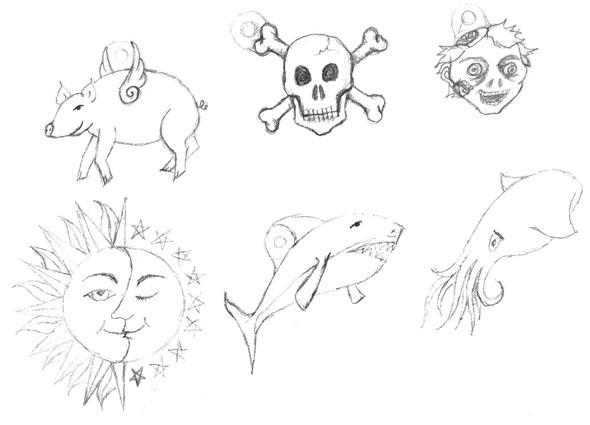 Shrinky Dink Doodles by Amy Crook