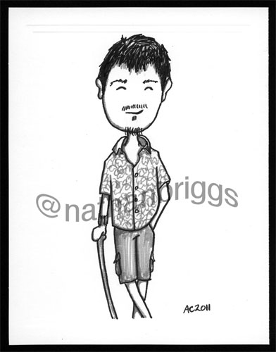 Nathan Briggs sketch by Amy Crook, all rights reserved