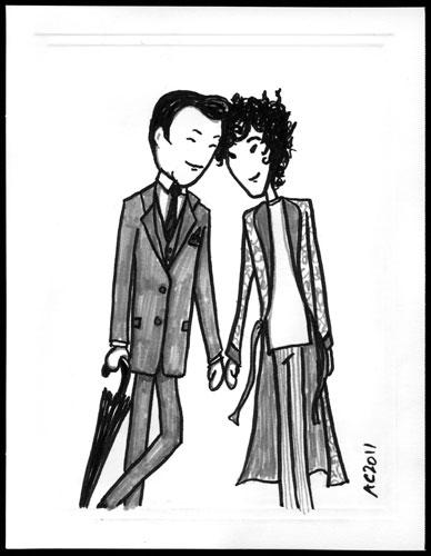 Mycroft and Sherlock sketch by Amy Crook