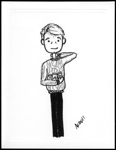 John Watson sketch by Amy Crook
