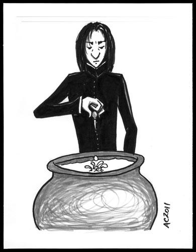 Snape sketch by Amy Crook