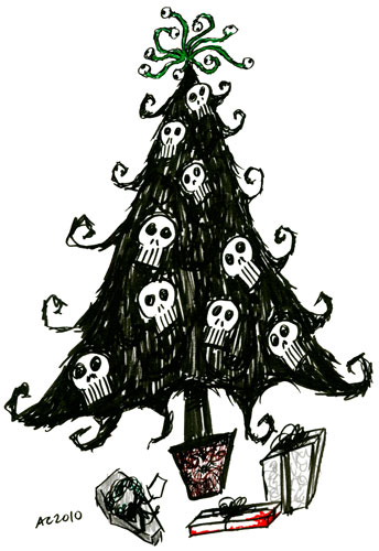 Goth Christmas Tree by Amy Crook