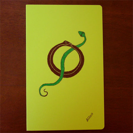 Twining Snakes Moleskine Volant by Amy Crook