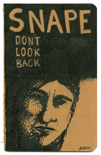 Snape - Don't Look Back customized Moleskine by Amy Crook