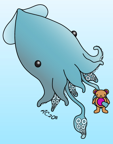 Super Cute Squid illustration by Amy Crook