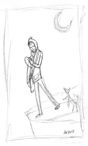 The Fool sketch by Amy Crook