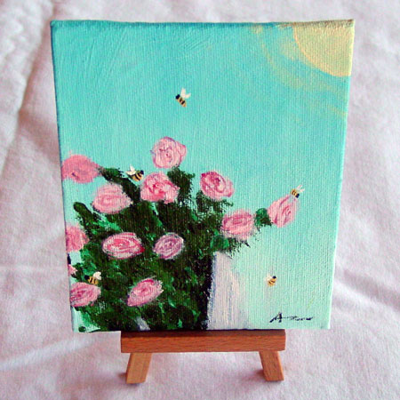 13 Pink Roses by Amy Crook