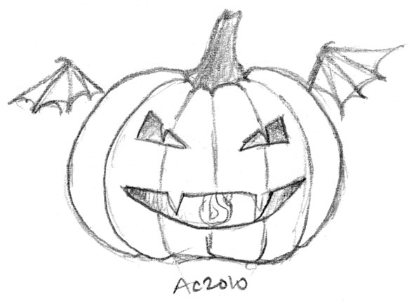 Vampire Pumpkin by Amy Crook