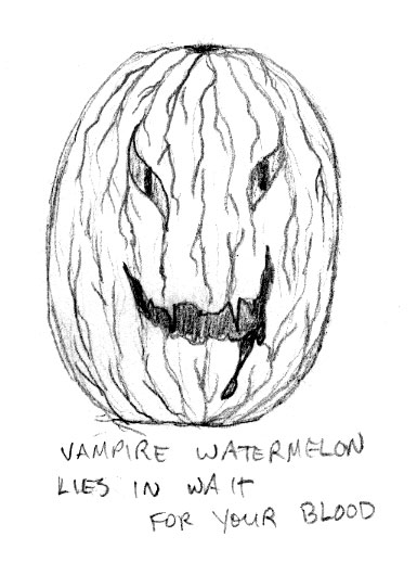 Vampire Watermelon by Amy Crook