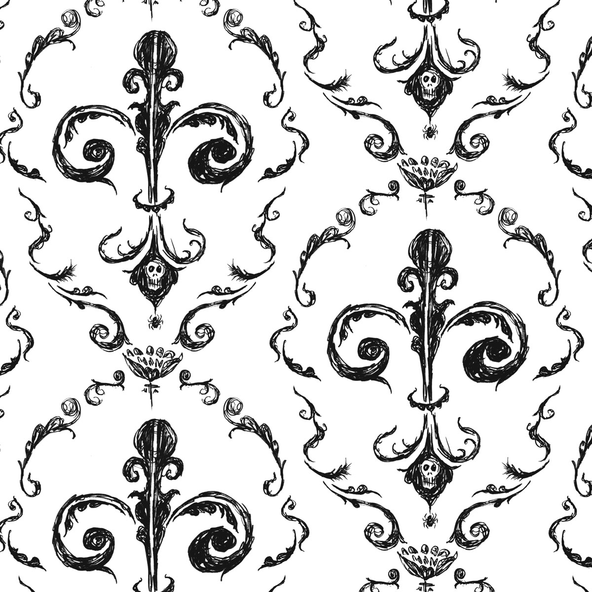 Black Victorian Pattern | Patterns Gallery