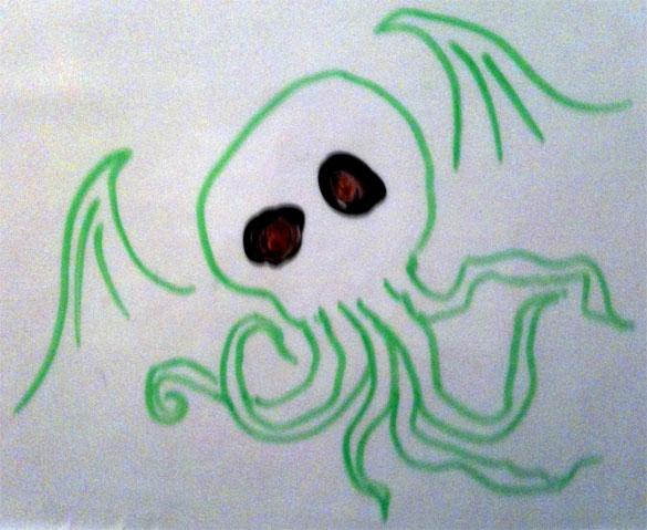 Whiteboard Cthulhu by Amy Crook