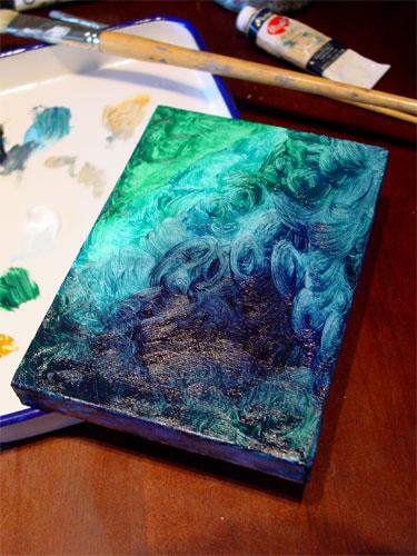 Work in Progress - Swirls by Amy Crook
