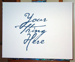 Your Thing Here