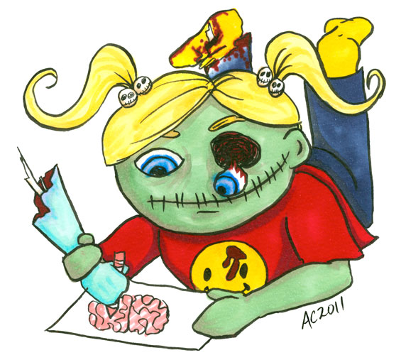 Zombie Coloring, cartoon by Amy Crook